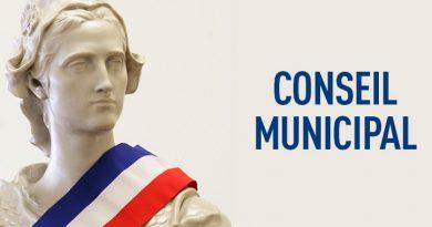 prochain conseil municipal – ordre du jour