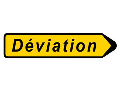 Déviation pour travaux de la RD 16
